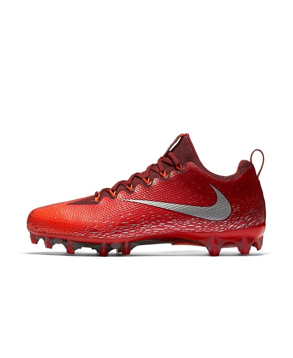 reputable site 3a2c4 52e9b Nike - Crampons de Football Américain pour homme, modele Vapor Untouchable  Pro, couleur Team Red Total Crimson University Red Metallic Silver