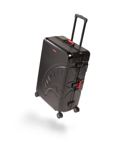 "Embossed Black Shark 29"" Full Size Suitcase 4 Wheels TSA Lock"