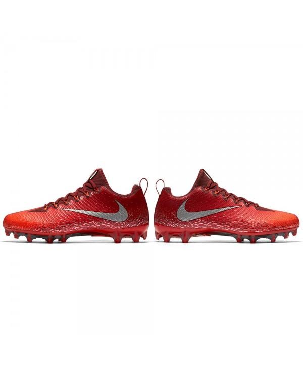 reputable site c3997 569c3 Nike - Crampons de Football Américain pour homme, modele Vapor Untouchable  Pro, couleur Team Red Total Crimson University Red Metallic Silver