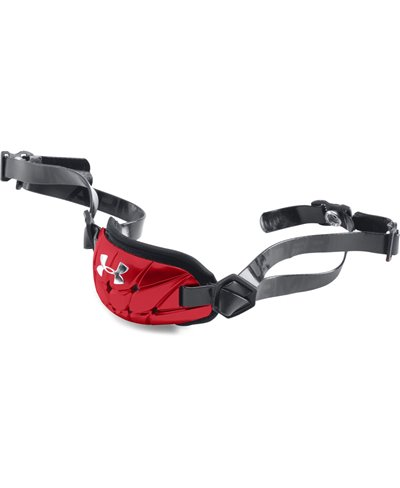 Gameday Armour Pro Men's Chin Strap Red/Metallic Silver