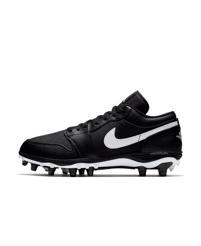 Men's Jordan 1 TD Low American Football Cleats Black/White