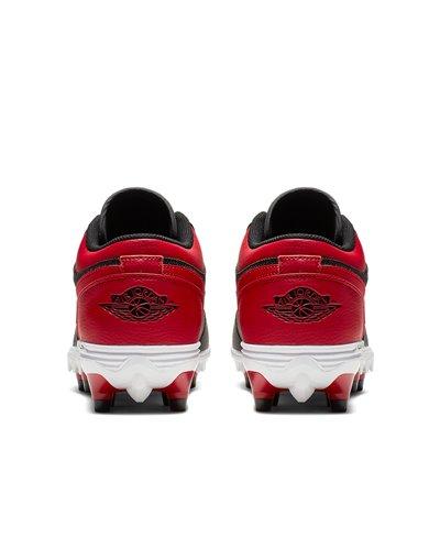 Jordan 1 TD Low Scarpe da Football Americano Uomo Black/Varsity Red