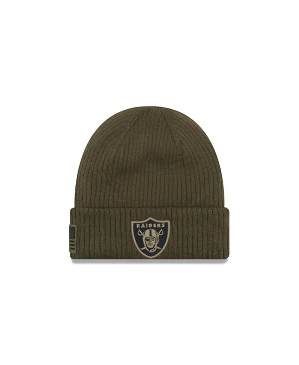 Men's Beanie NFL Salute To Service Oakland Raiders