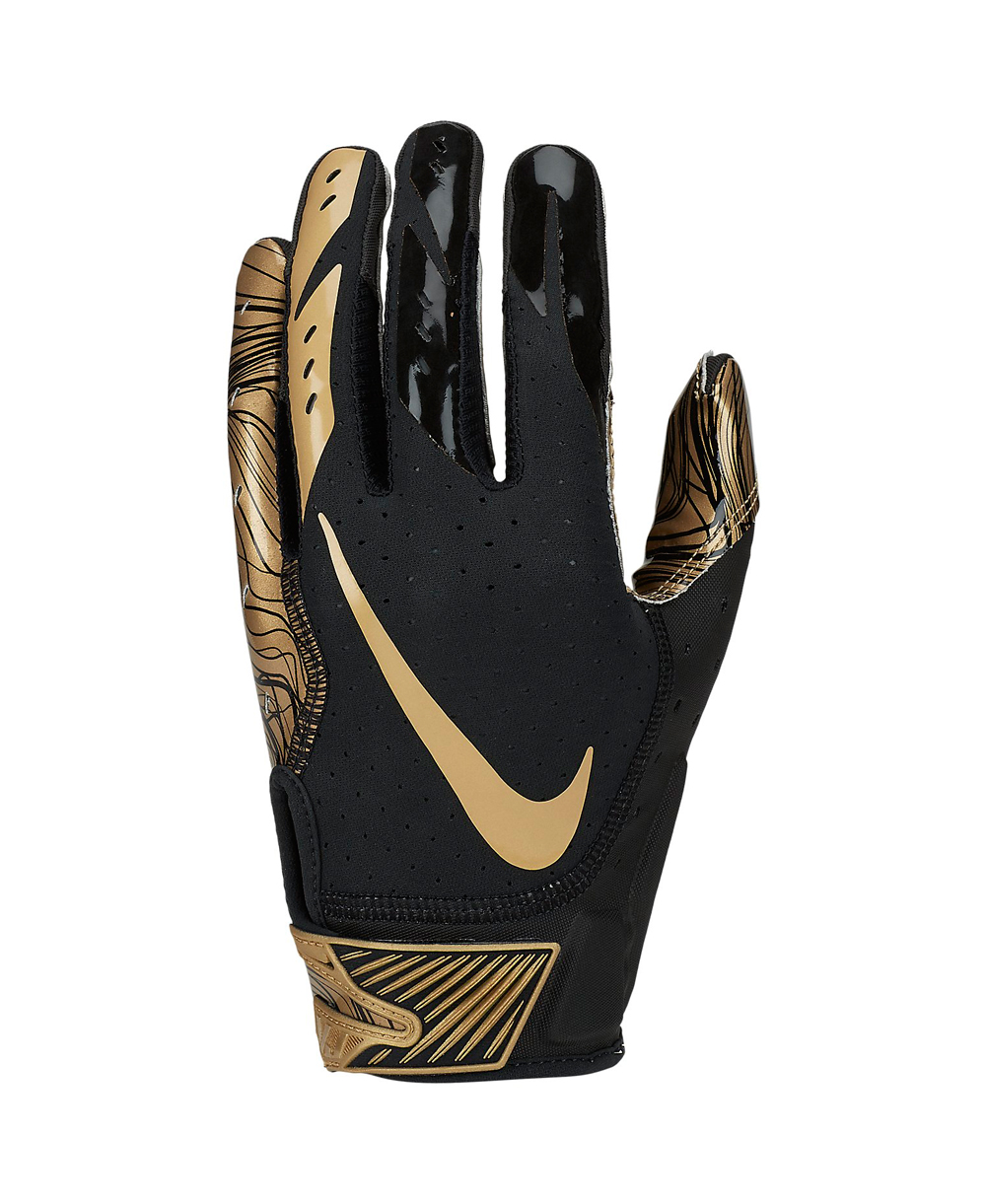 Vapor Jet 5 Guanti Football Americano Uomo Black/Gold