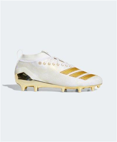 Herren Adizero 8.0 American Football Shuhe Cloud White/Gold Metallic