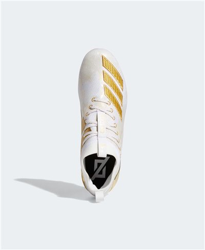 Adizero 8.0 Zapatos de Fútbol Americano para Hombre Cloud White/Gold Metallic