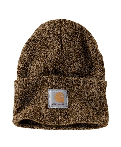 Men's Beanie Work in Progress Acrylic Watch Dark Brown/Sandstone