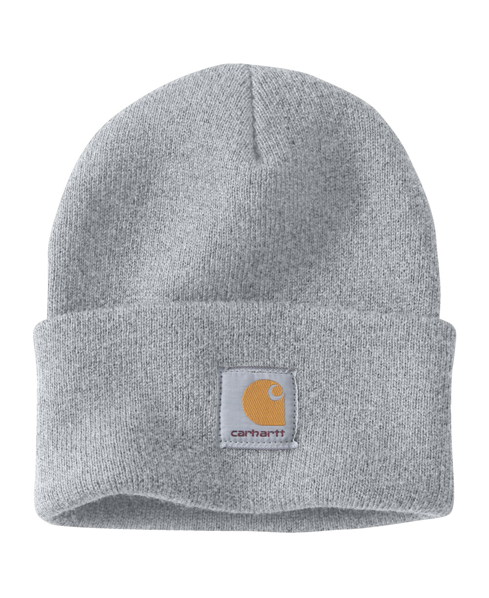 Men's Beanie Work in Progress Acrylic Watch Heather Grey