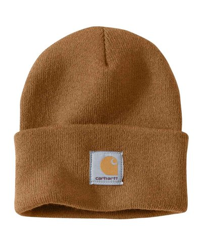 Men's Beanie Work in Progress Acrylic Watch Brown