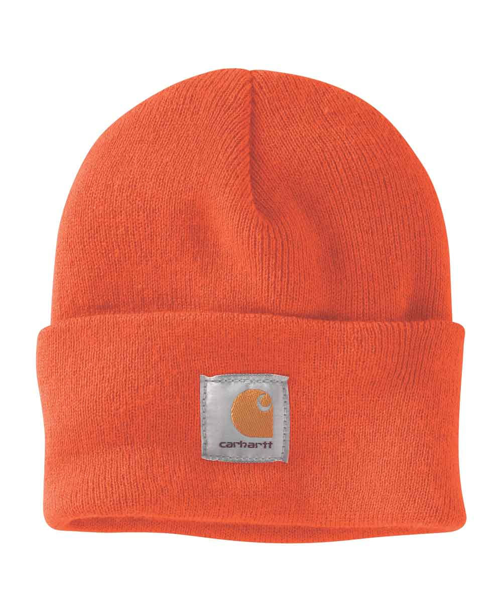 Work in Progress Acrylic Watch Bonnet Homme Brite Orange