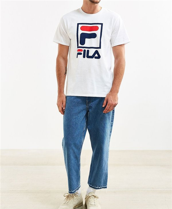 Men's T-Shirt Stacked White