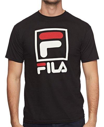 Men's T-Shirt Stacked Black