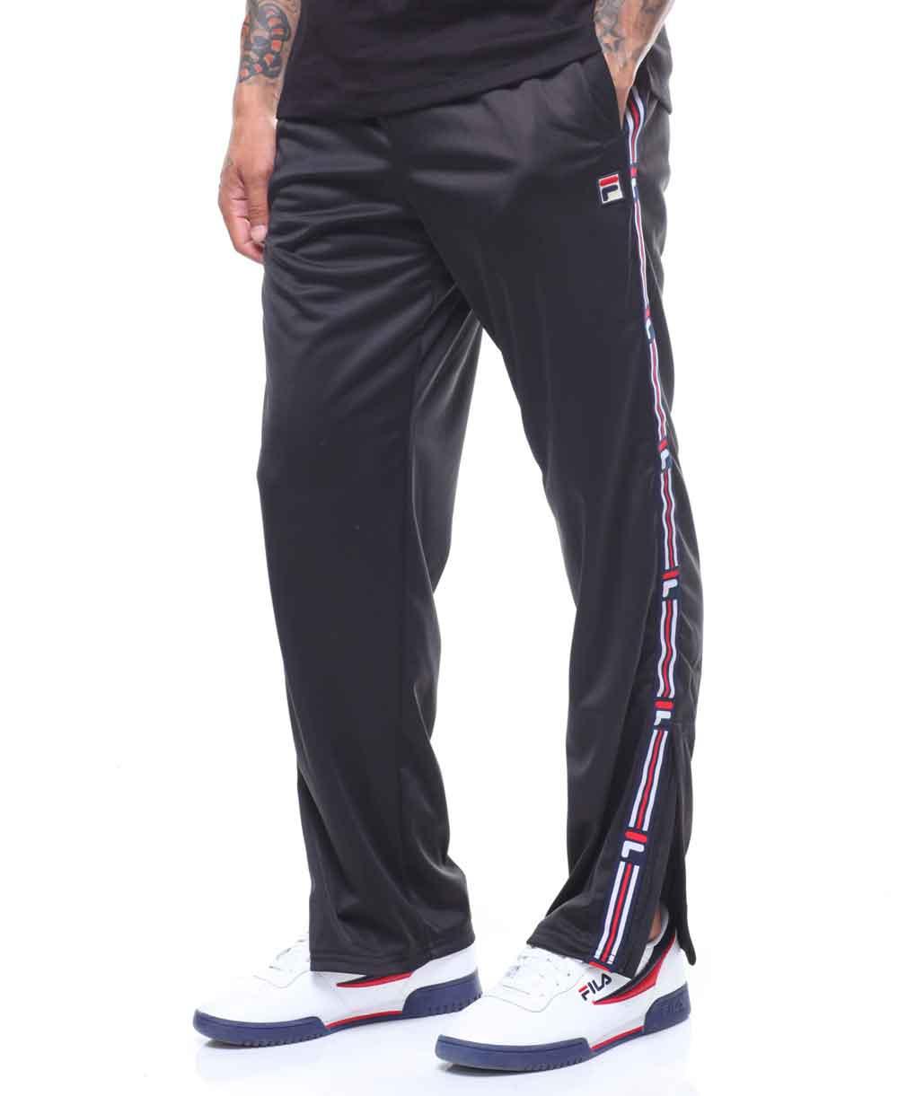 Men's Fleece Pants Ush Tape Black