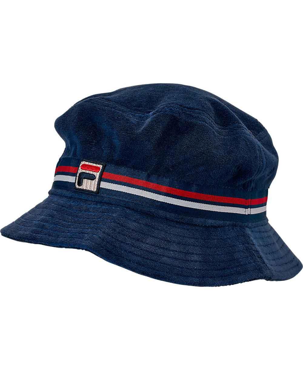 Velour Bucket Gorra para Hombre Navy