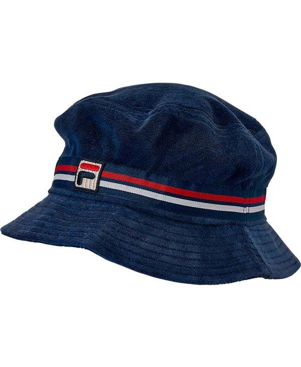 Herren Cap Velour Bucket Navy