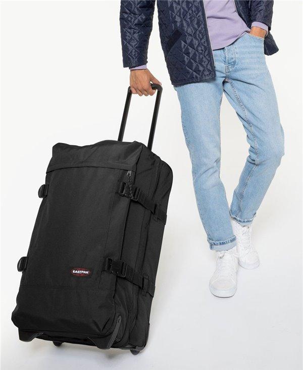 Maleta Tranverz M con 4 Ruedas Black con Candado TSA