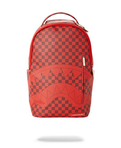 Sharks in Paris Backpack Red Checkered Edition