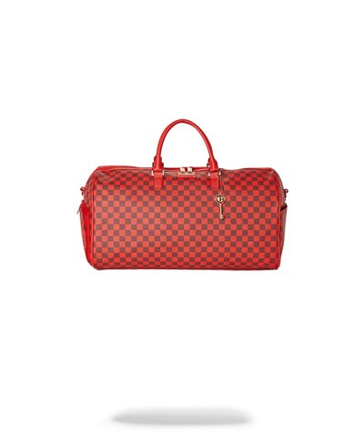 Borsa da Viaggio Sharks in Paris Red Checkered Edition