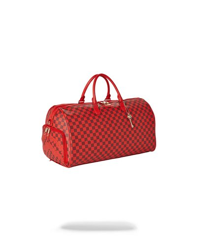 Sharks in Paris Duffle-Tasche Red Checkered Edition