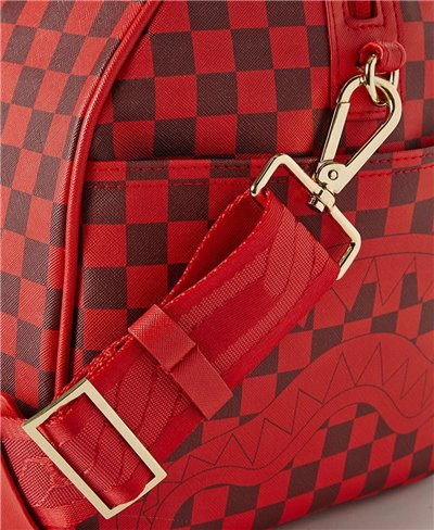 Sharks in Paris Duffle Bag Red Checkered Edition