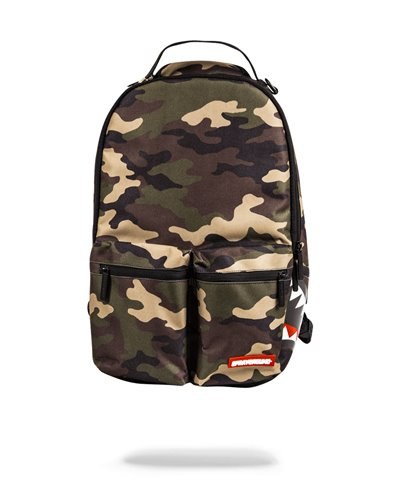 Double Cargo Side Shark Backpack Camo
