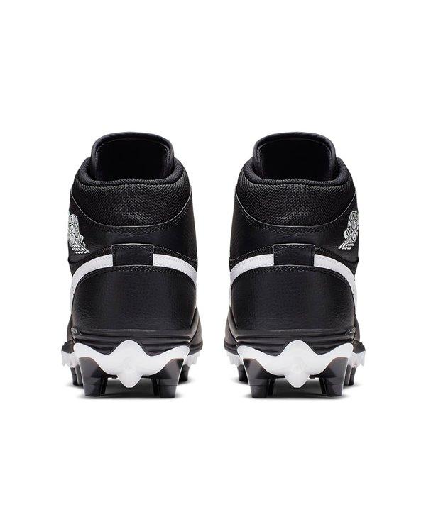 Men's Jordan 1 TD Mid American Football Cleats Black/White