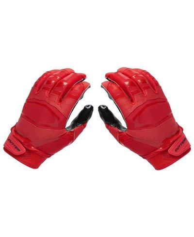 Rev Pro 3.0 Solid Flip Combo Pack Guantes Fútbol Americano para Hombre Red/Black 2 piezas