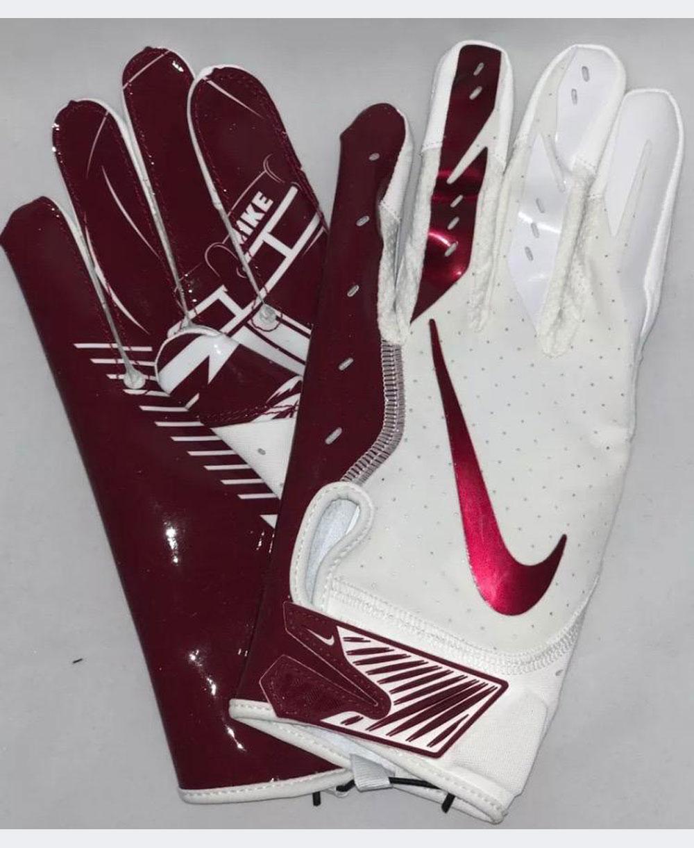 Vapor Jet 5 Men's Football Gloves White/Team Red