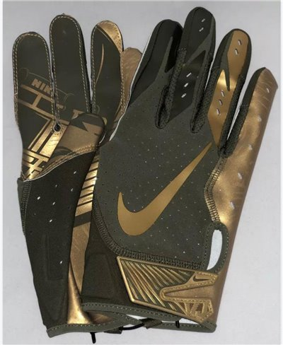 Vapor Jet 5 Men's Football Gloves Medium Olive/Metallic Gold