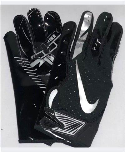Vapor Jet 5 Herren American Football Handschuhe Black/Metallic Silver