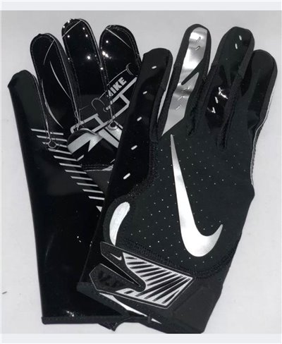 Vapor Jet 5 Men's Football Gloves Black/Metallic Silver