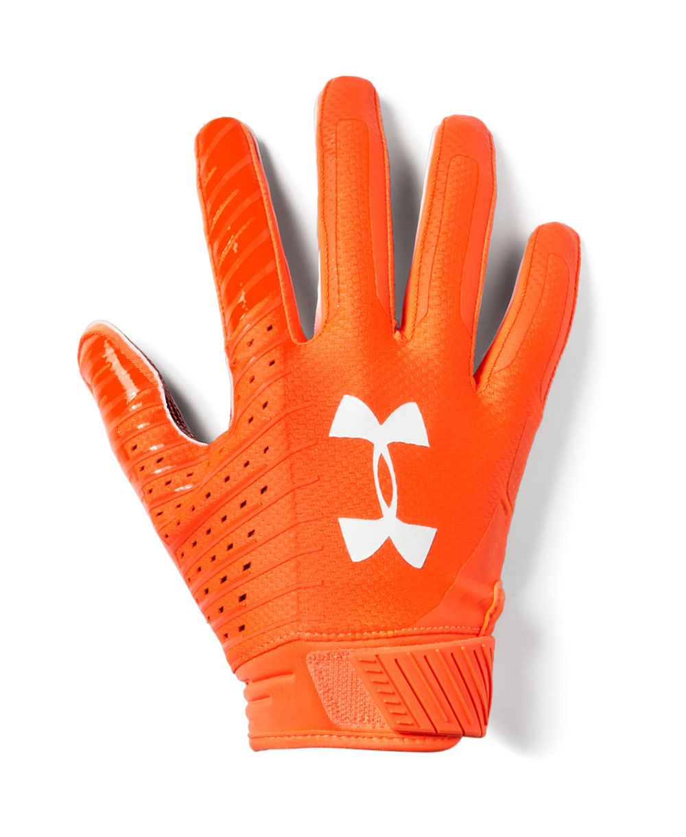 Spotlight LE Herren American Football Handschuhe Orange Glitch