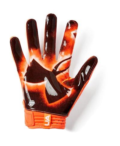 Spotlight LE Men's Football Gloves Orange Glitch