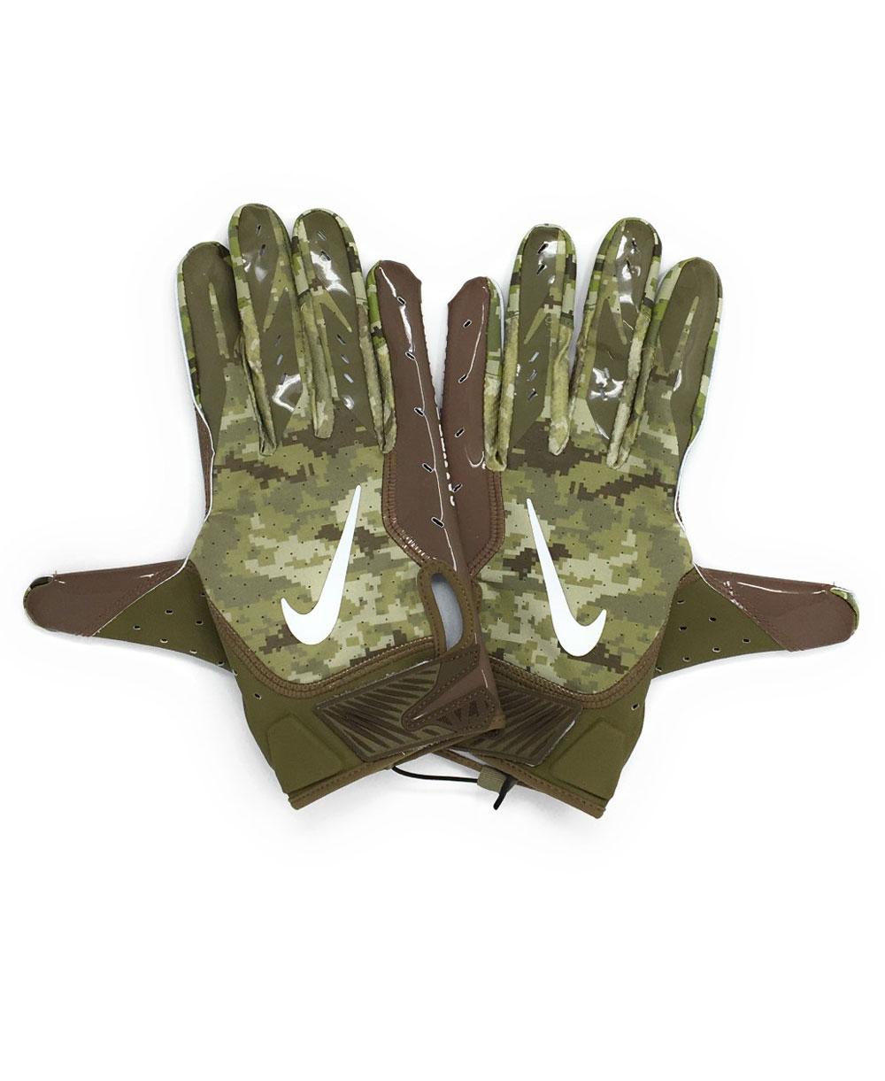 Vapor Jet 5 Salute To Service NFL Guantes Fútbol Americano para Hombre Trooper/Brown