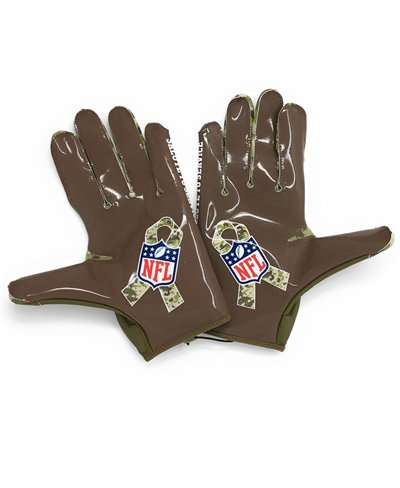 Vapor Jet 5 Salute To Service NFL Men's Football Gloves Trooper/Brown
