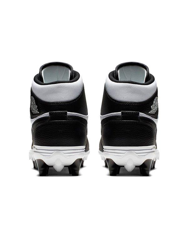 Jordan 1 TD Mid Zapatos de Fútbol Americano para Hombre White/Black/Black