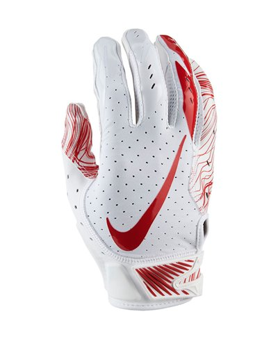Vapor Jet 5 Men's Football Gloves White/University Red
