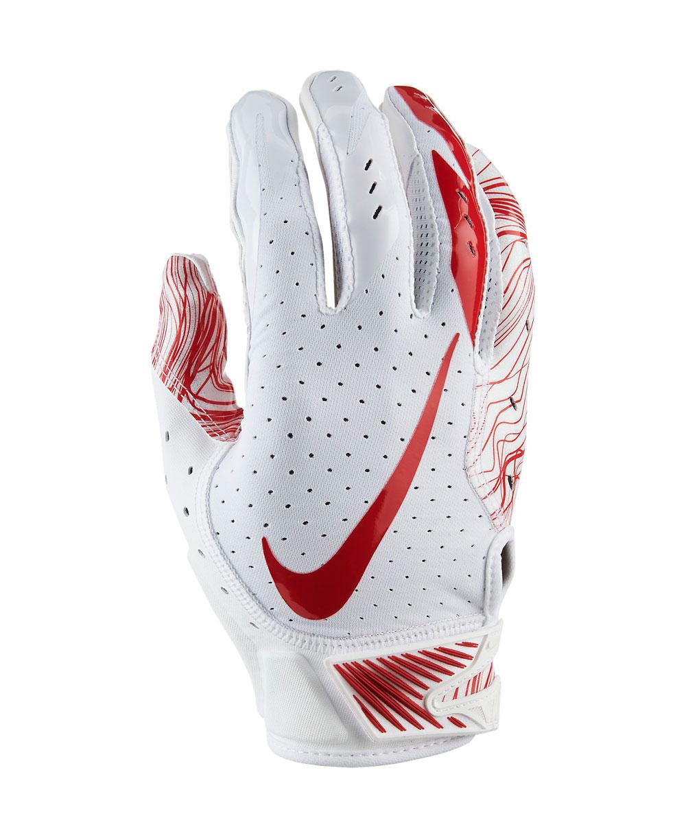 Vapor Jet 5 Herren American Football Handschuhe White/University Red