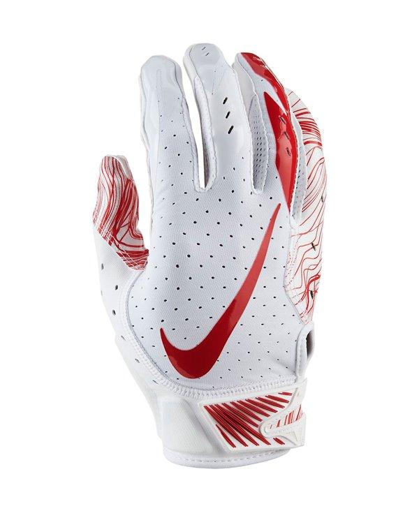 Vapor Jet 5 Men's Football Gloves White/University Red