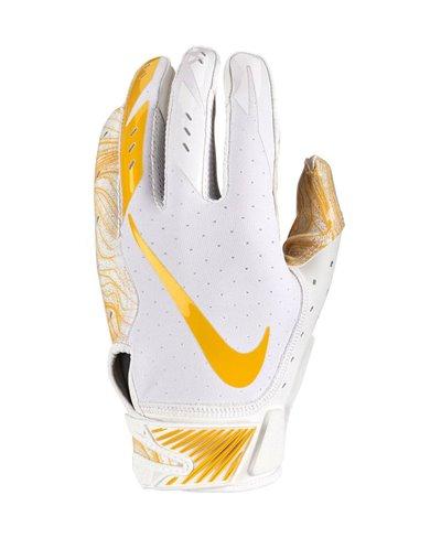 Vapor Jet 5 Guantes Fútbol Americano para Hombre White/White/Gold
