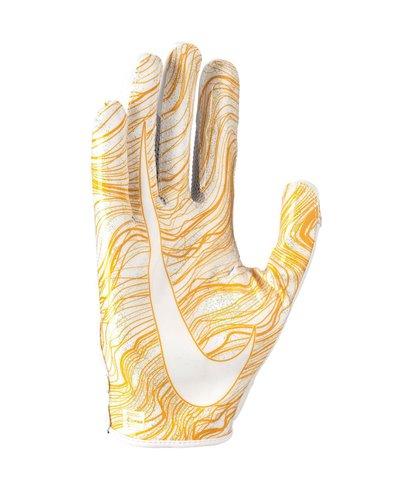 Vapor Jet 5 Men's Football Gloves White/White/Gold