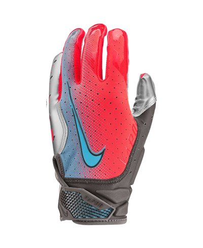 Vapor Jet 6 Guanti Football Americano Uomo Crimson/Metallic Silver/Baltic Blue