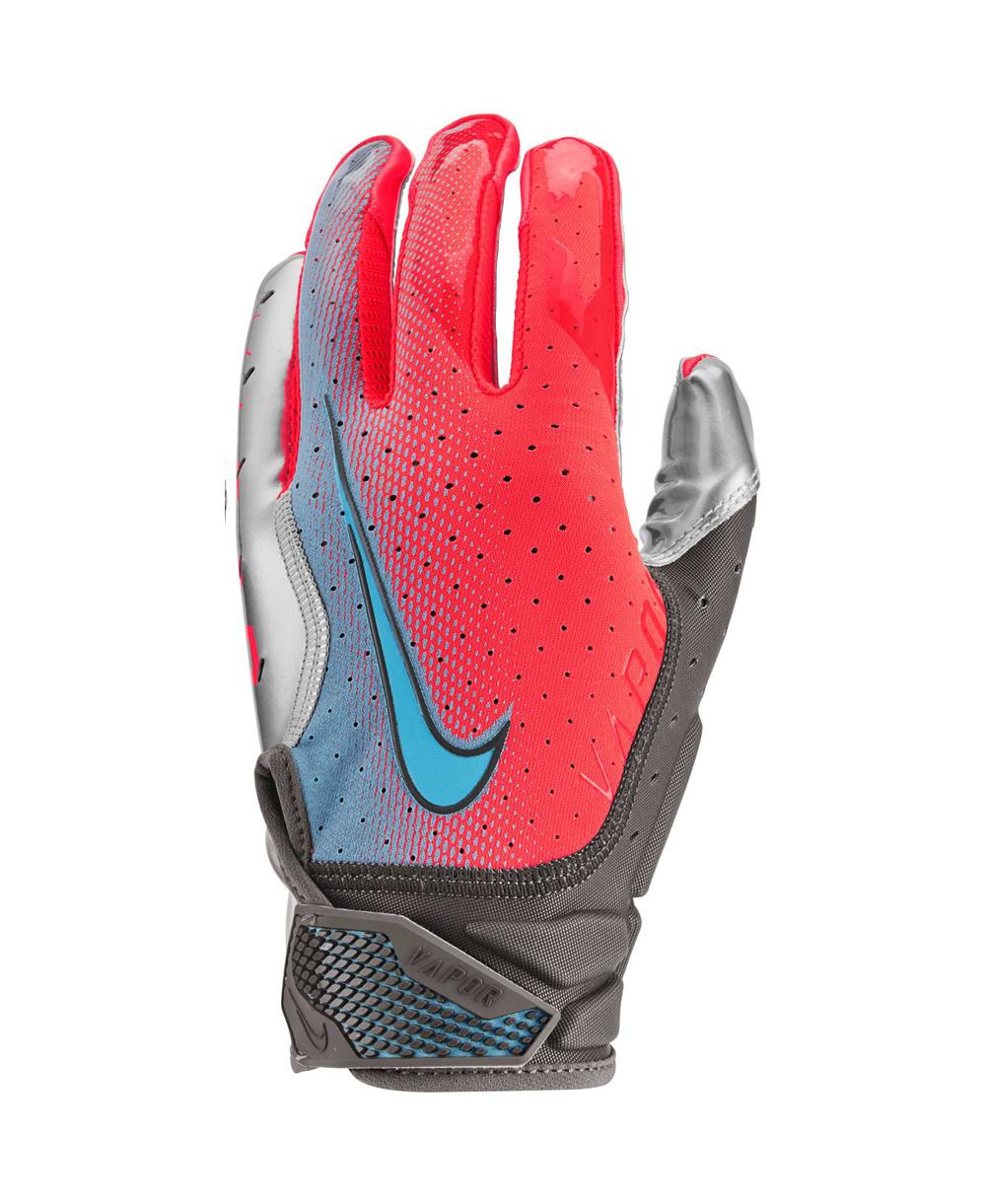 Vapor Jet 6 Herren American Football Handschuhe Crimson/Metallic Silver/Baltic Blue