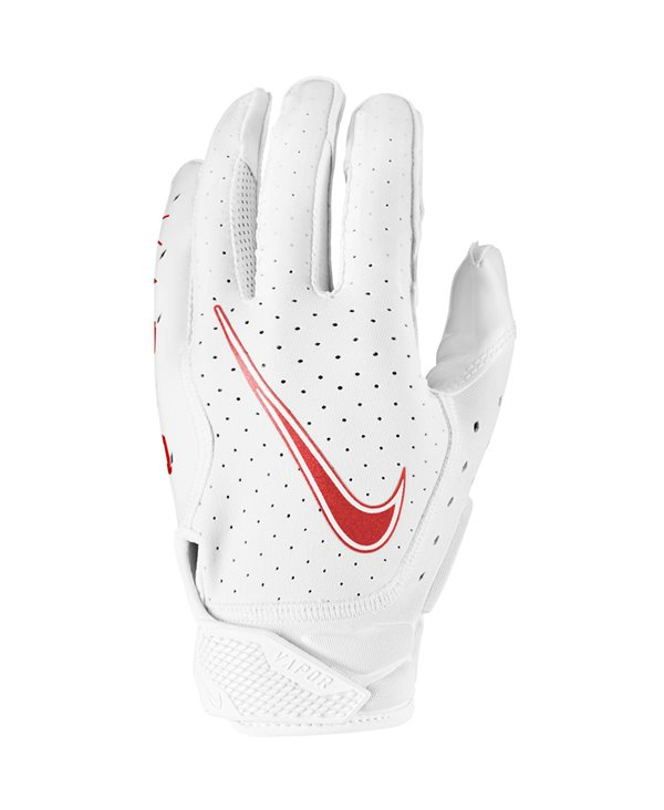 Vapor Jet 6 Herren American Football Handschuhe White/Red