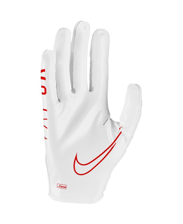 Vapor Jet 6 Men's Football Gloves White/Red