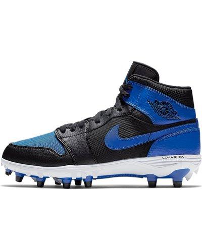 Herren Jordan 1 TD Mid American Football Shuhe Black/Blue