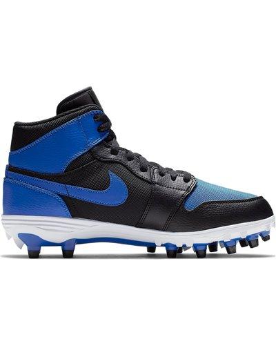 Nike Men S Jordan 1 Td Mid American Football Cleats Black Blue