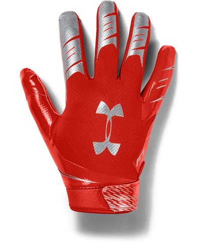 UA F7 Herren American Football Handschuhe Dark Orange