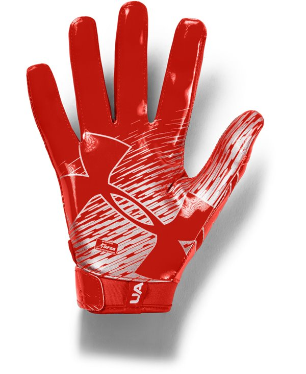 UA F7 Herren American Football Handschuhe Dark Orange