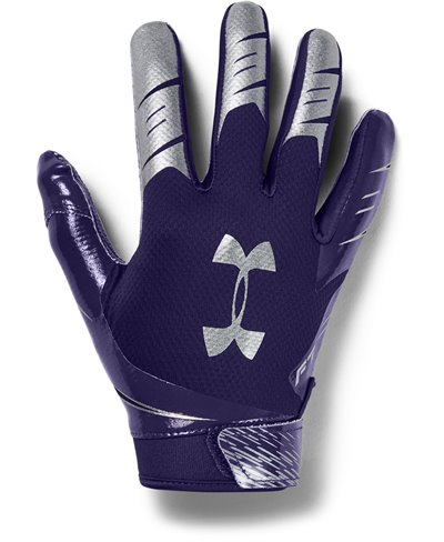 UA F7 Herren American Football Handschuhe Purple